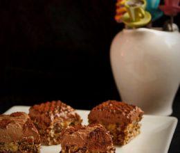 Prajitura cu blat de nuca si crema de ciocolata