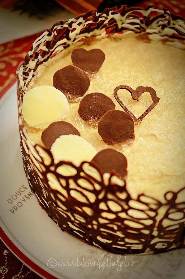 Tort cu ciocolata, cafea si sampanie