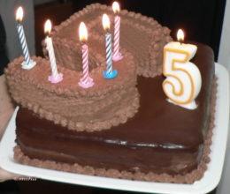 Tort aniversare 5 anisori